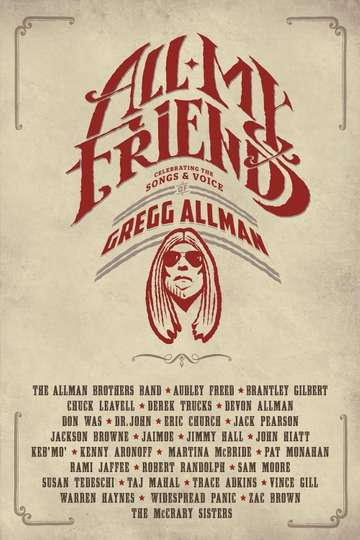 All My Friends - Celebrating the Songs & Voice of Gregg Allman poster