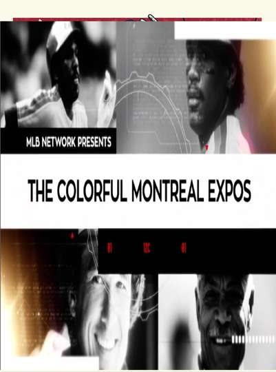 The Colorful Montreal Expos poster