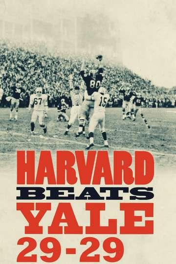 Harvard Beats Yale 29-29 poster