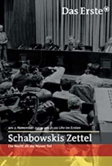 Schabowskis Zettel poster