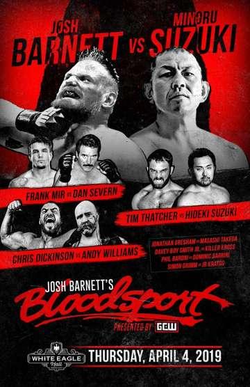 GCW Josh Barnett's Bloodsport poster