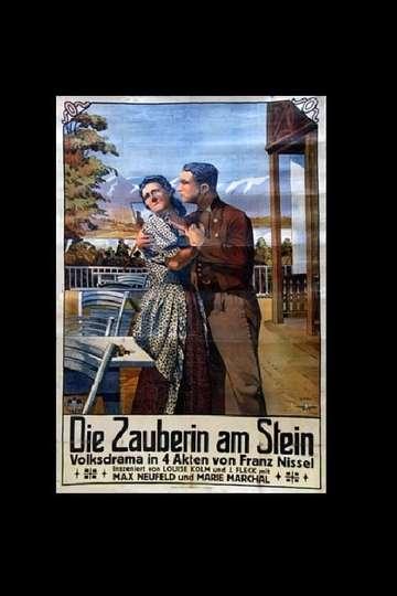 Die Zauberin am Stein poster