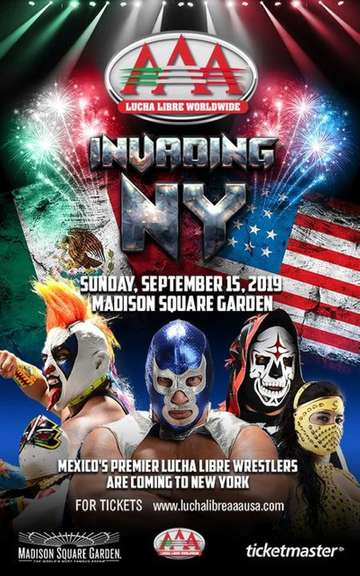 Lucha Libre AAA Invading New York poster