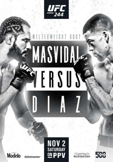 UFC 244: Masvidal vs. Diaz poster