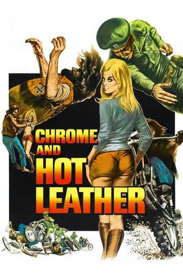 Chrome and Hot Leather Poster