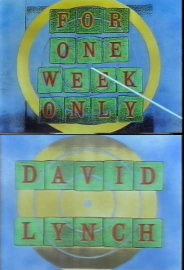 Jonathan Ross Presents for One Week Only: David Lynch