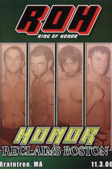 ROH Honor Reclaims Boston poster