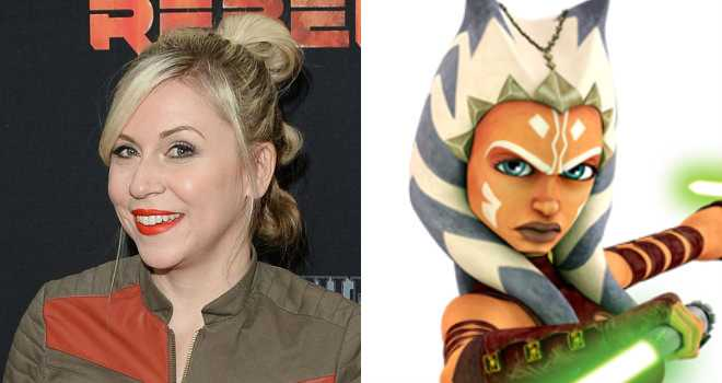 Ashley Eckstein and her Star Wars character, Ahsoka Tano