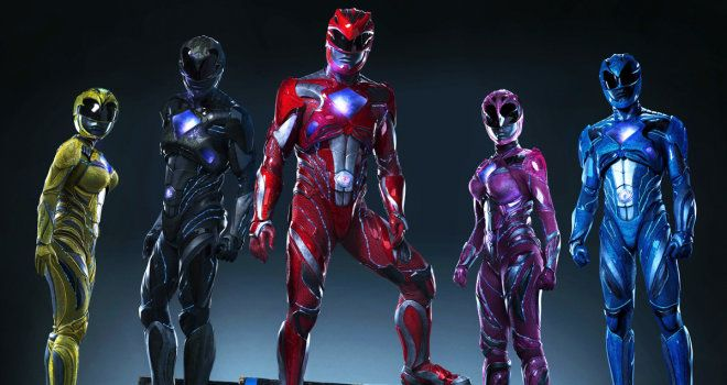 power rangers, new suits, first look, reboot, costumes