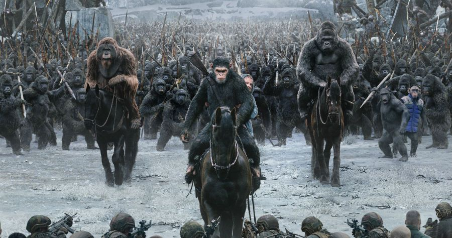 WAR FOR THE PLANET OF THE APES poster