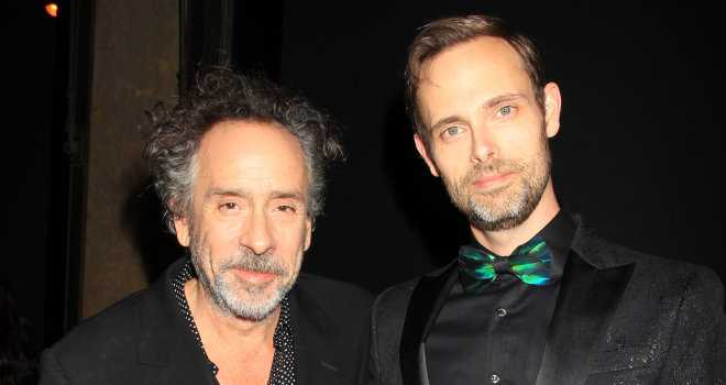 Director Tim Burton and Author Ransom Riggs at the MISS PEREGRINE'S HOME FOR PECULIAR CHILDREN event at SAKS Fifth Avenue in New York on Monday, September 26, 2016.