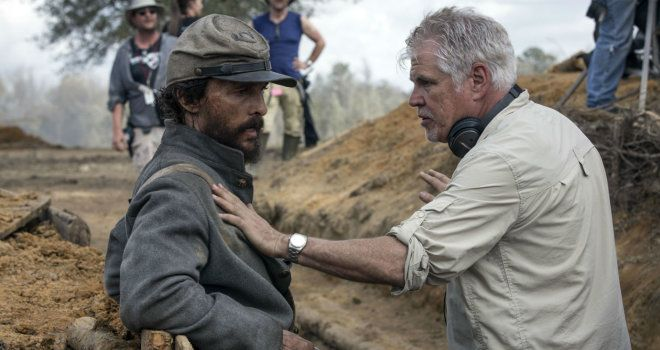 BTS: Matthew McConaughey and Gary Ross discuss a scene in the bunker in the set of FREE STATE OF JONES