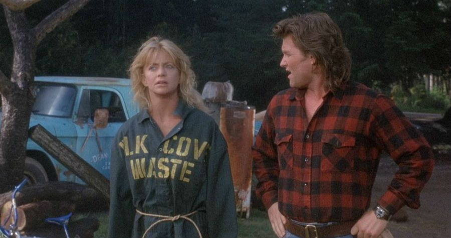Goldie Hawn, Kurt Russell in OVERBOARD (1987)