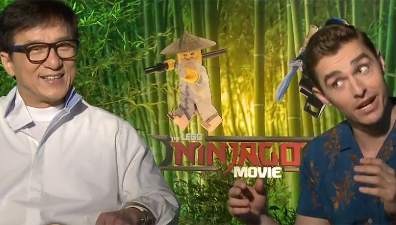 Jackie Chan and Dave Franco from The Lego Ninjago Movie