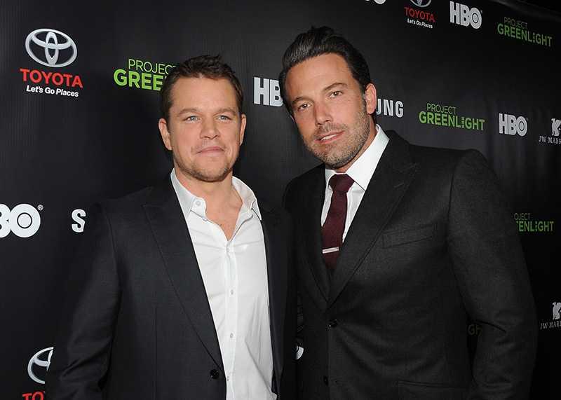 Matt Damon (L) and Ben Affleck
