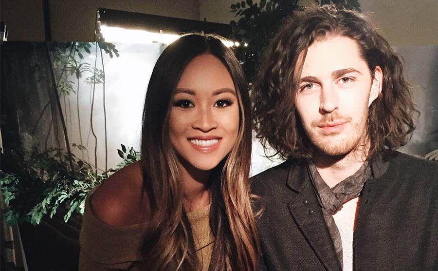Made in Hollywood: Teen Edition host Kylie Erica Mar with Hozier