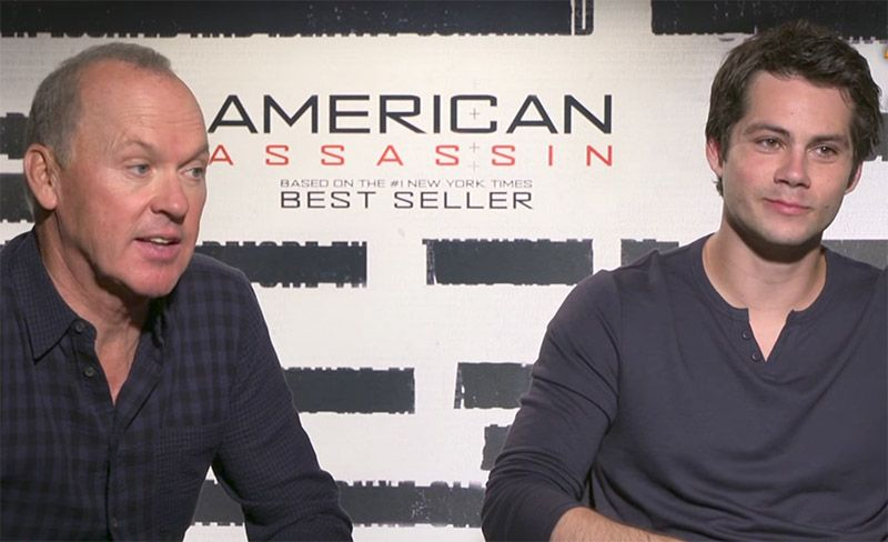 Michael Keaton and Dylan O'Brien from American Assassin