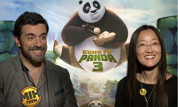 """""""Kung Fu Panda 3"""" directors Jennifer Nelson and Alessandro Carloni"""