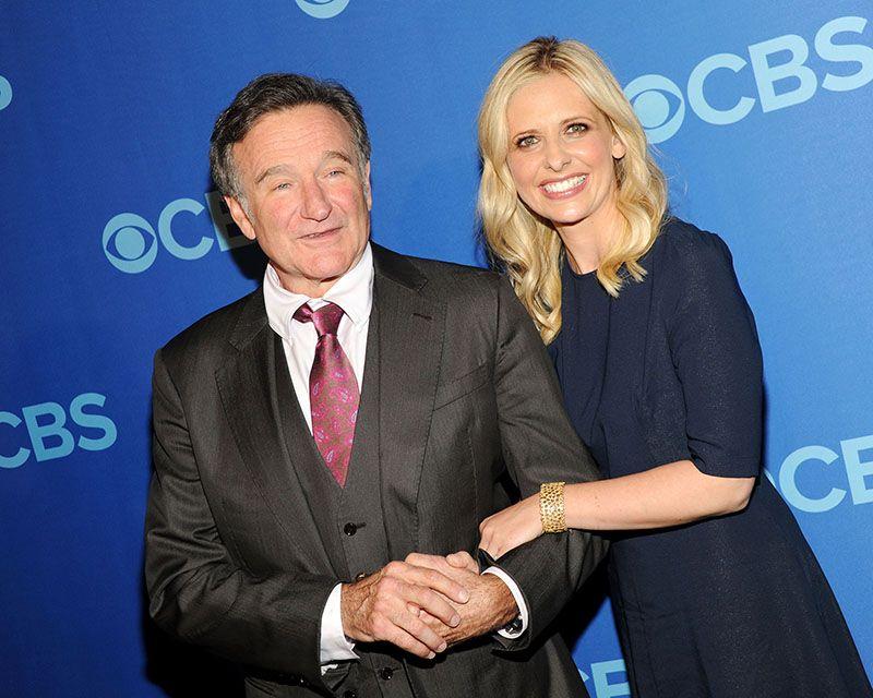 Sarah Michelle Gellar and Robin Williams in 2013