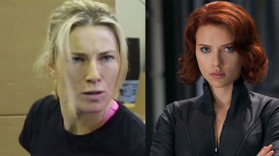 Heidi Moneymaker and Scarlett Johansson
