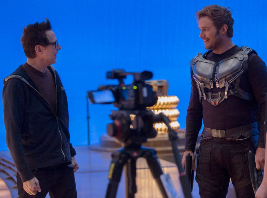Guardians of the Galaxy set, James Gunn, Chris Pratt