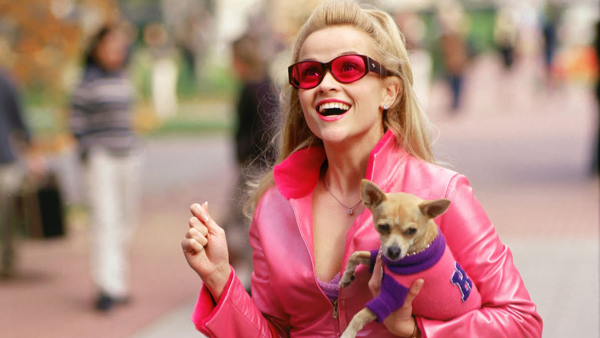 Legally Blonde Ella Woods with her puppy