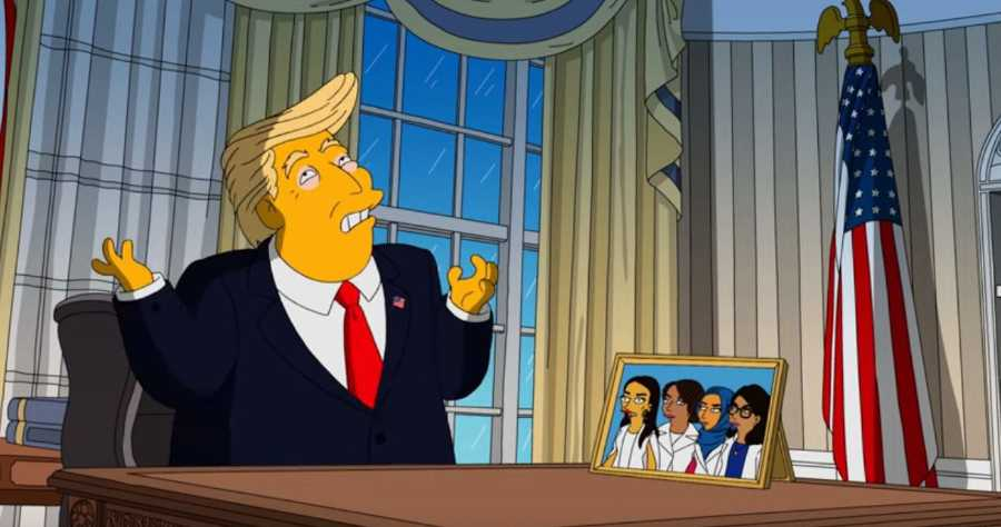 The Simpsons' West Wing Story still