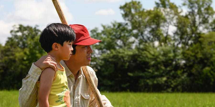 Alan Kim and Steven Yeun in 'Minari'