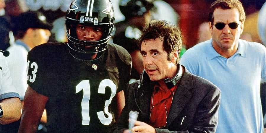 Jamie Foxx, Al Pacino, and Dennis Quaid in 'Any Given Sunday'