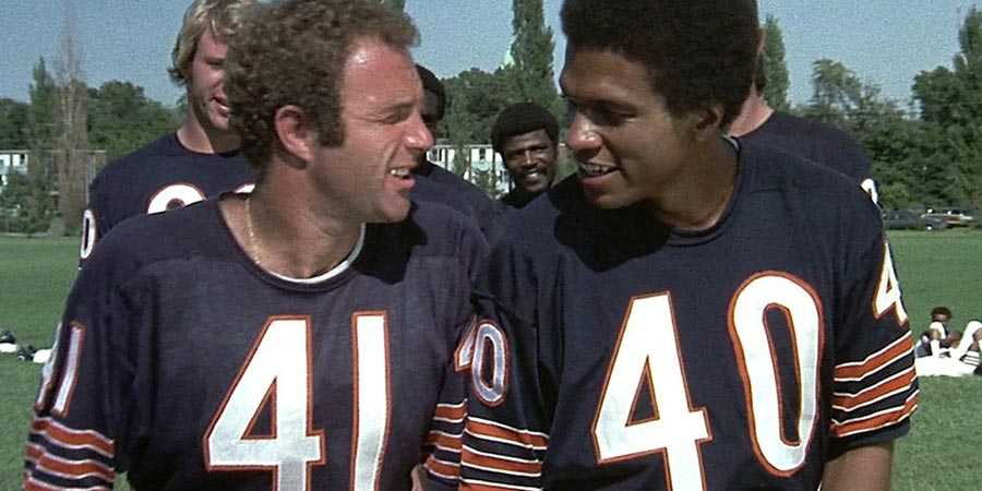 James Caan and Billy Dee Williams in 'Brian's Song'