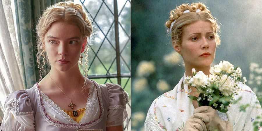 Anya Taylor-Joy in 'Emma.' (2020) and Gwyneth Paltrow in 'Emma' (1996)