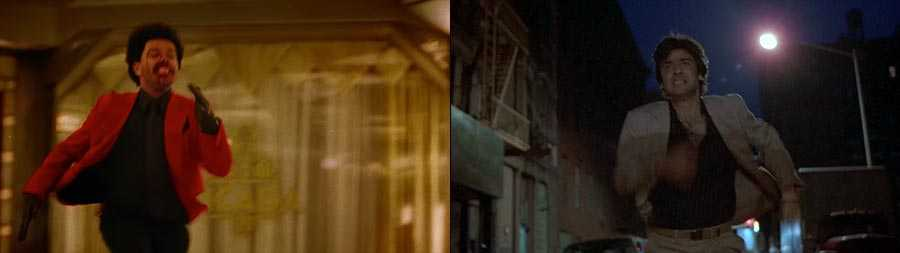 """Blinding Lights"" (left) and 'After Hours' (right)"