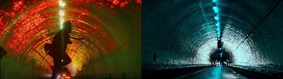 """""""Blinding Lights"""" (left) and 'Blade Runner' (right)"""