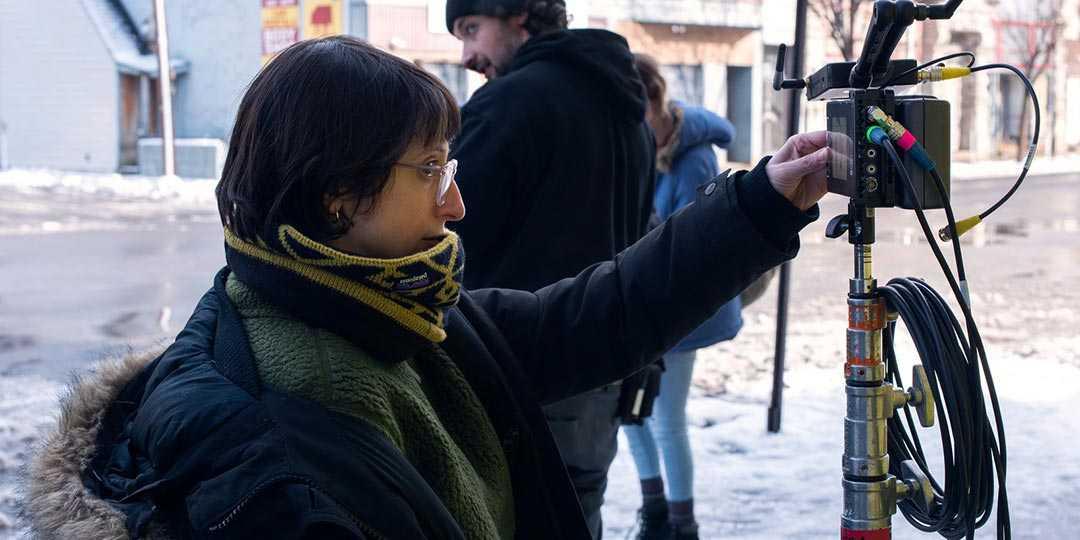 Director/writer Eliza Hittman on the set of 'Never Rarely Sometimes Always'