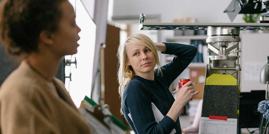 Director/writer Kitty Green on the set of 'The Assistant'