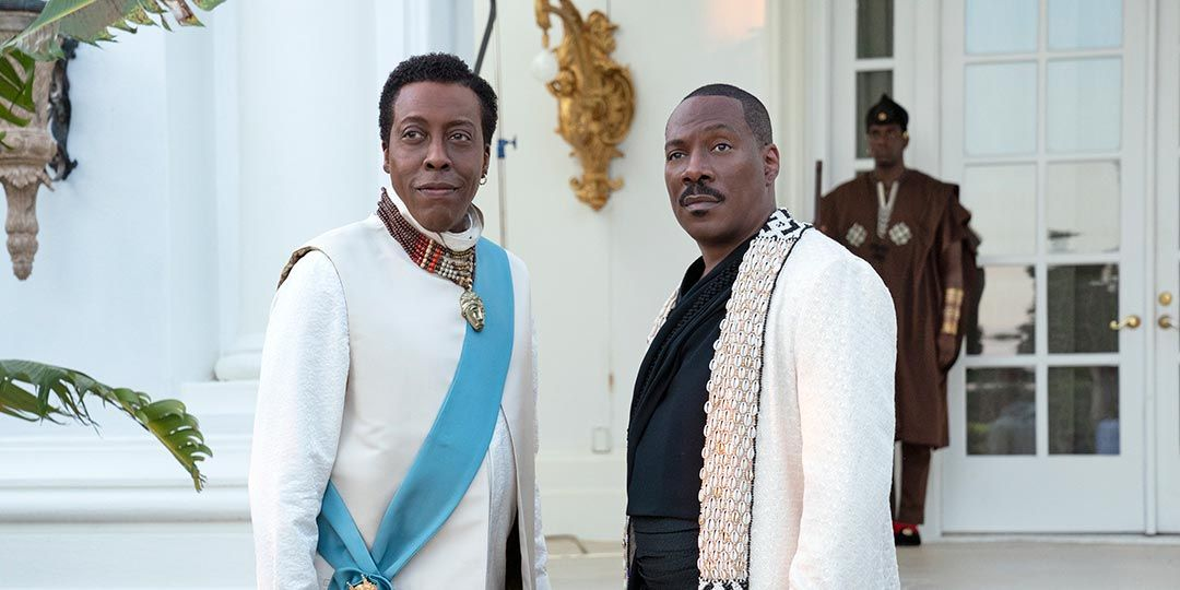 Arsenio Hall and Eddie Murphy in 'Coming 2 America'