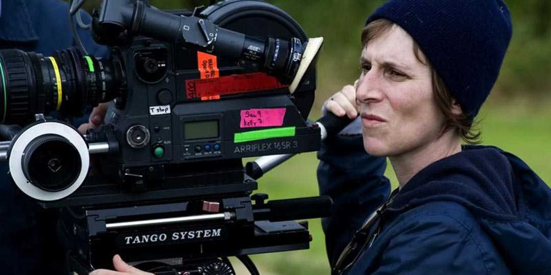 Director/writer Kelly Reichardt on the set of 'First Cow'