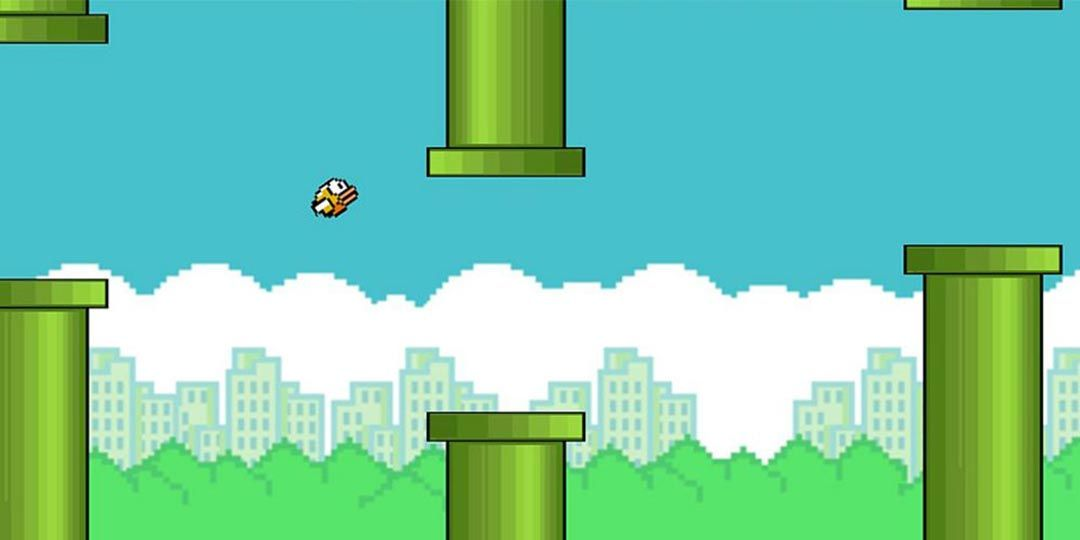 A dramatic moment from 'Flappy Bird'