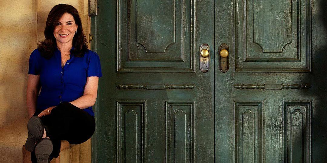 Marilyn Agrelo on the set of 'Sesame Street'