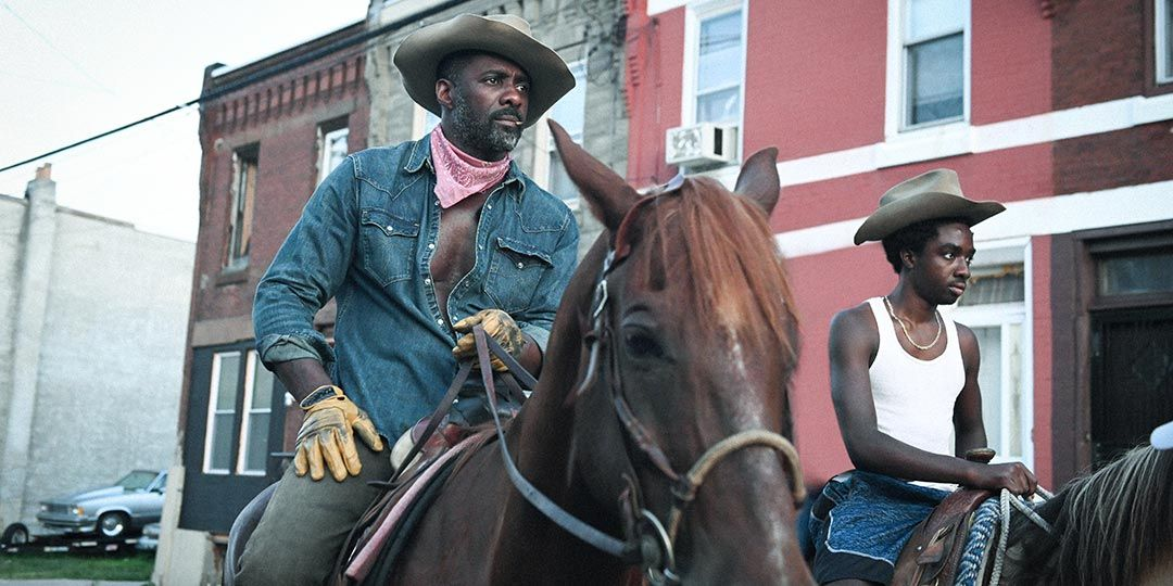 Idris Elba and Caleb McLaughlin in 'Concrete Cowboy'