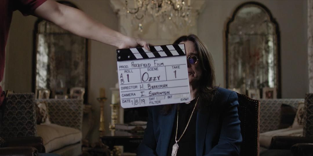 Ozzy Osbourne being interviewed for 'Rockfield - The Studio on the Farm'