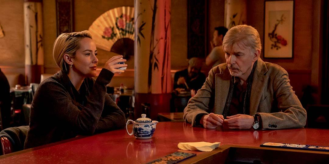 Jena Malone and Billy Bob Thornton in 'Goliath'