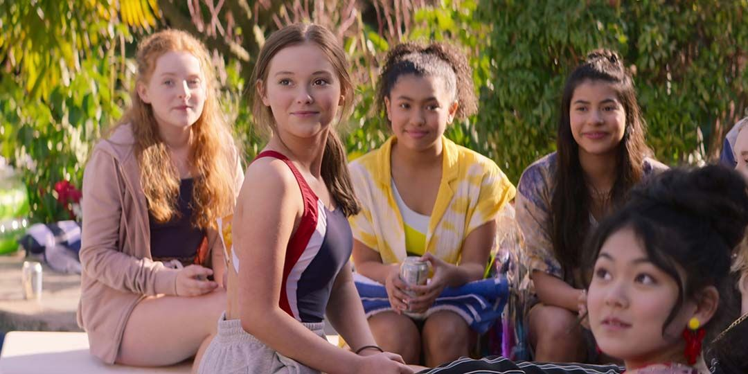 (L to R) Vivian Watson, Sophie Grace, Anais Lee, Kyndra Sanchez, and Momona Tamada in 'The Baby-Sitters Club'